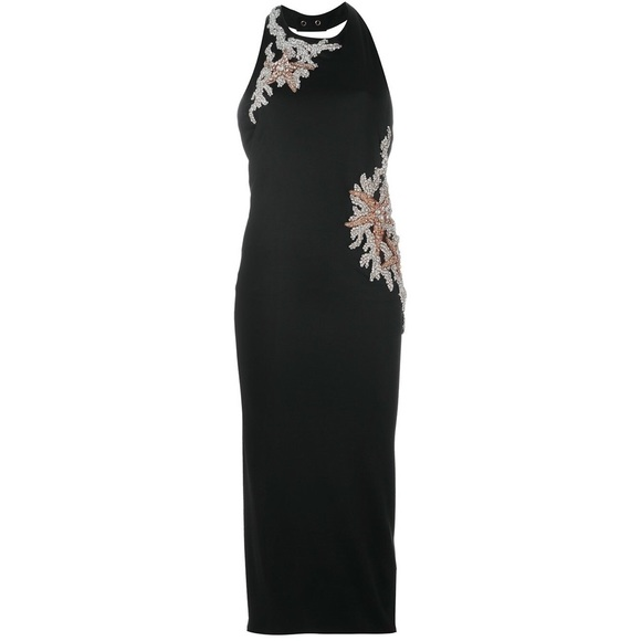 8911bd72 Balmain Dresses | New Embellished Crystal Halter Midi Dress | Poshmark
